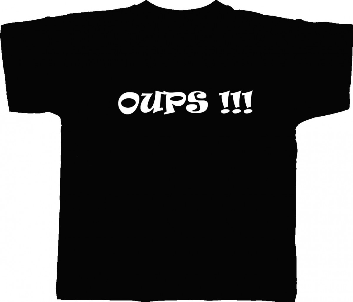 T-shirt homme humour OUPS