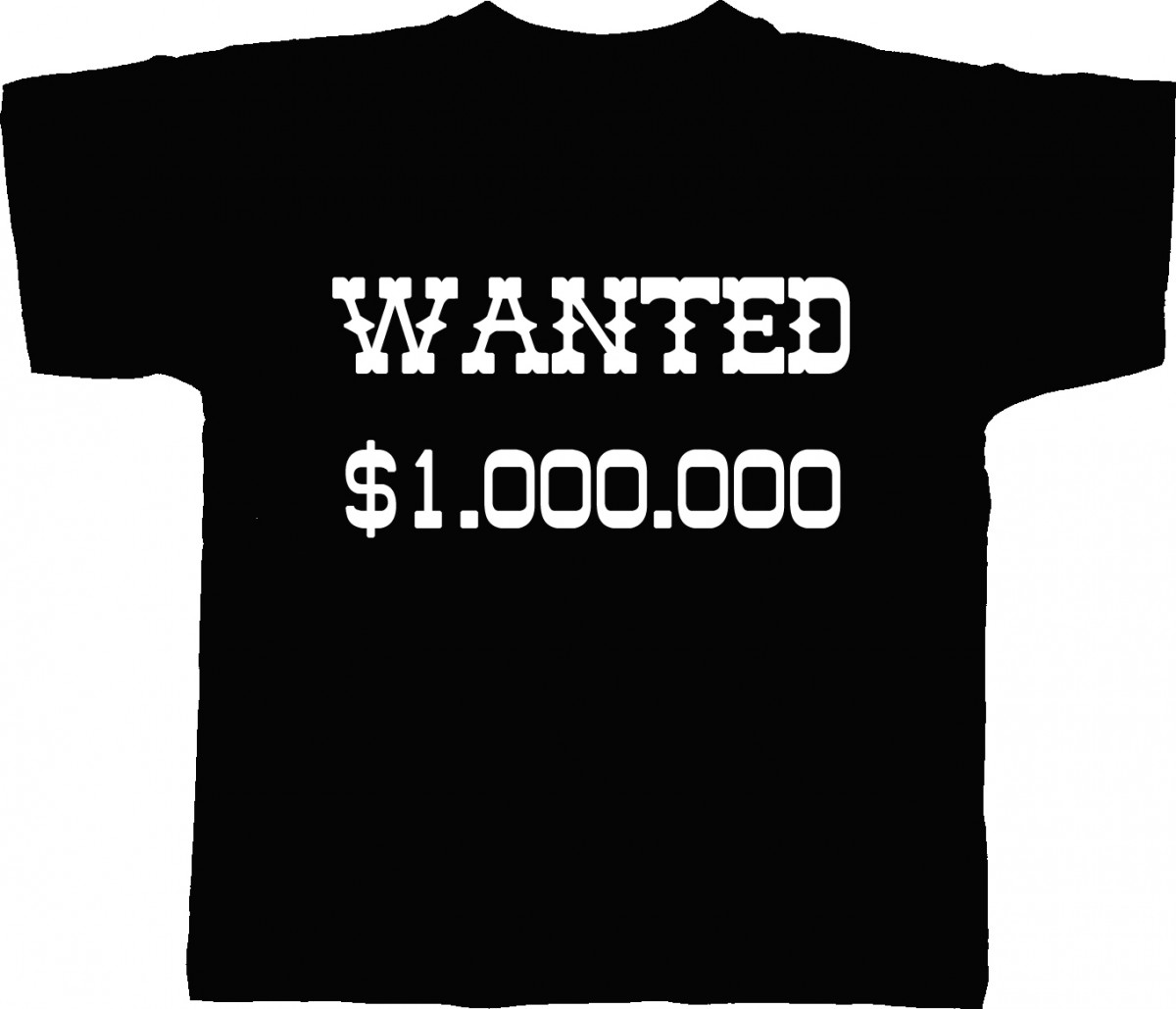 T-shirt homme humour WANTED