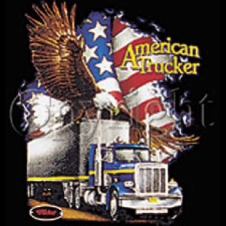 T-shirt HOMME manches courtes - Camion USA American trucker - 2359