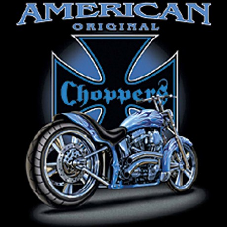 T-shirt HOMME manches courtes - Moto American Choppers - recto-verso - 6333