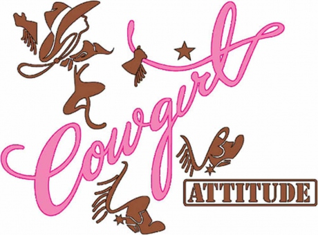 T-shirt FEMME manches courtes - Country - Cowgirl attitude - 37133