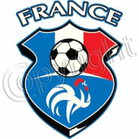 T-shirt FEMME manches courtes - drapeau France football - 6579