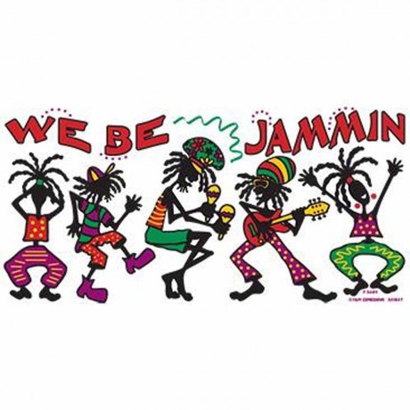 T-shirt FEMME manches courtes - JAMAIQUE rasta we be jammin - 6109