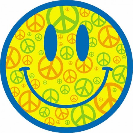 T-shirt FEMME manches courtes - Smiley Peace and Love - 100178