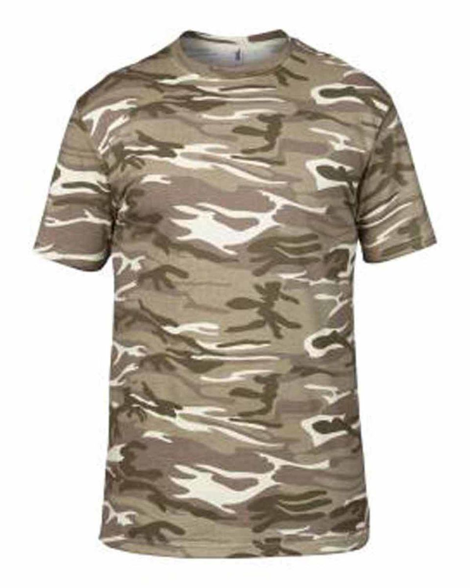 T-shirt manches courtes army A939 Camouflage beige sable