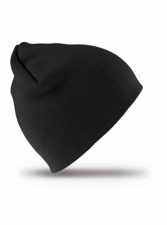 Bonnet tricot court - taille unique adulte - Result RC044X - noir