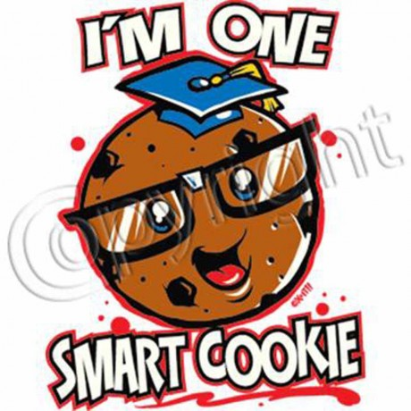 T-shirt enfant manches courtes I'm one smart cookie - 2616