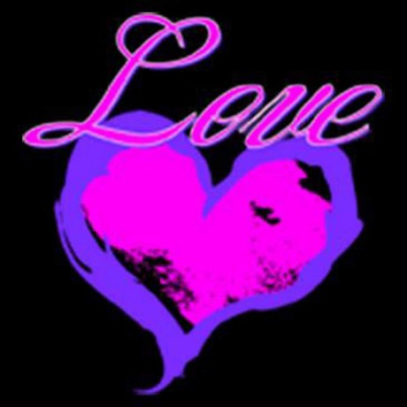 T-shirt homme manches courtes - Coeur love rose fluo - 9264