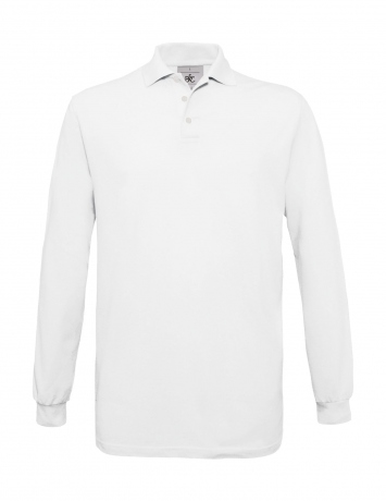 Polo homme manches longues - PU414 - blanc
