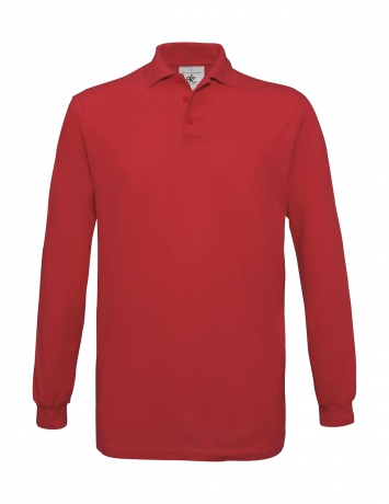 Polo homme manches longues - PU414 - rouge