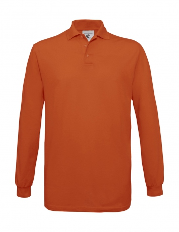 Polo homme manches longues - PU414 - orange