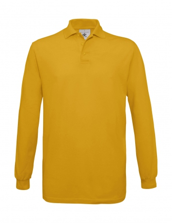 Polo homme manches longues - PU414 - jaune gold