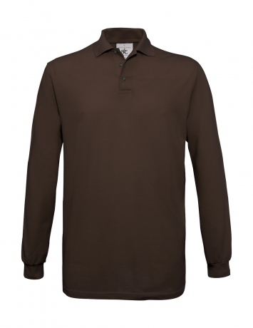 Polo homme manches longues - PU414 - marron