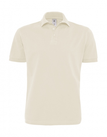Polo lourd manches courtes - homme - PU422 - beige naturel