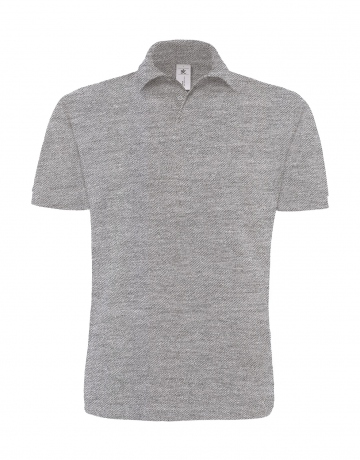 Polo lourd manches courtes - homme - PU422 - gris heather