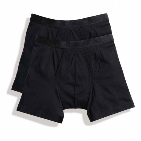 Lot 2 Boxers shorty Homme - coton - noir - duo Pack 67-026-7