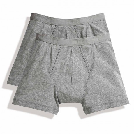 Lot 2 Boxers shorty Homme - coton - gris - duo Pack 67-026-7