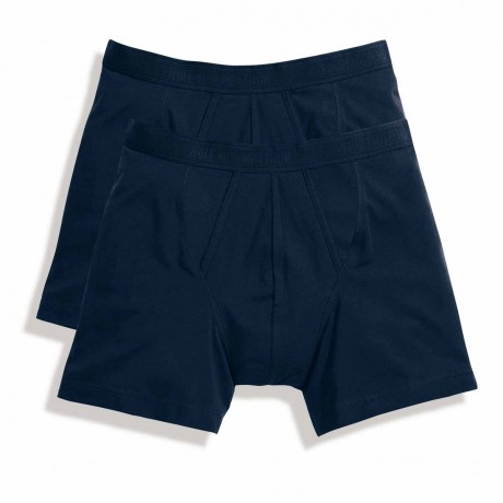 Lot 2 Boxers shorty Homme - coton - bleu - duo Pack 67-026-7