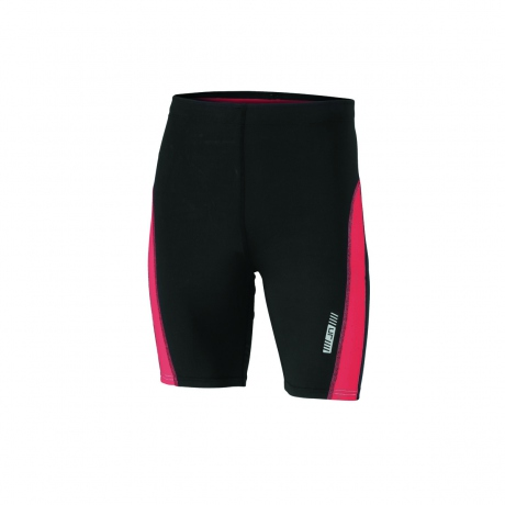 Cuissard running jogging JN478 - noir - tomate - homme - course à pied