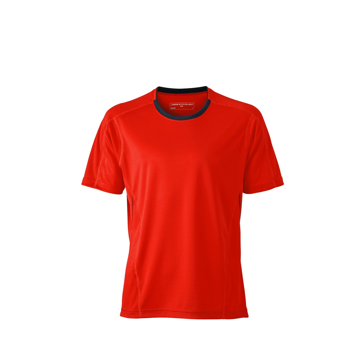 t shirt respirant running jogging jn472 rouge grenadine homme course pied. Black Bedroom Furniture Sets. Home Design Ideas