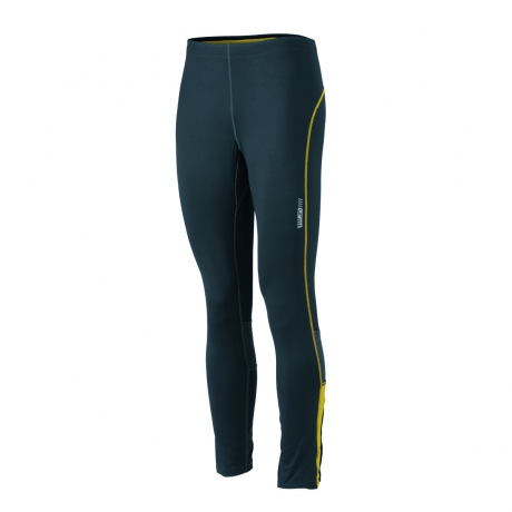 collant running jogging JN480 - gris fer - citron - homme - course à pied