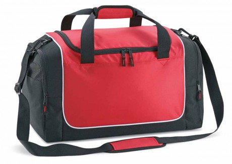Sac de sport compact - Locker bag - QS77 - rouge - noir - blanc