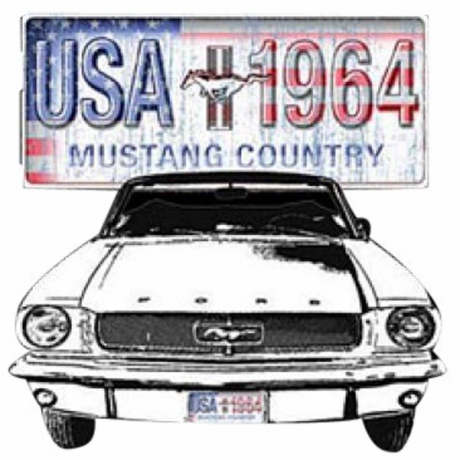 T-shirt homme manches courtes - Ford MUSTANG - 5224 - Country 1964