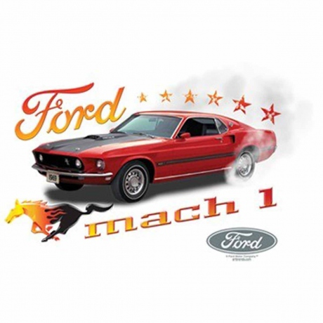 T-shirt homme manches courtes - Ford MUSTANG - 10777 - Mach 1 1969