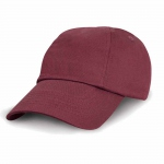 Casquette enfant Baseball RC018J rouge bordeau - Result