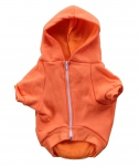 Sweat-shirt à capuche pour chien - orange - F997