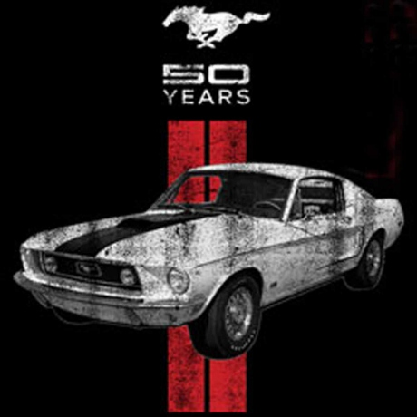 T-shirt homme manches courtes - Ford MUSTANG - 8300 - 50 ans