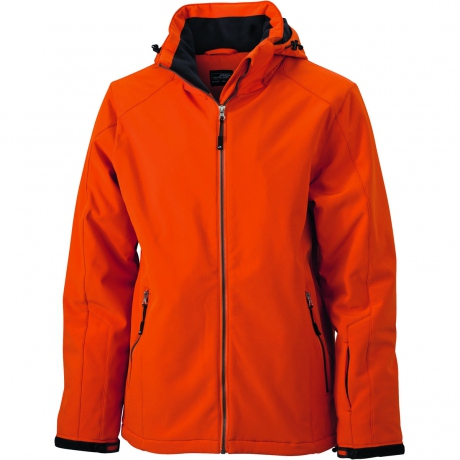 Veste softshell doublée - JN1054 - Orange - Homme - Sports d'hiver - Ski