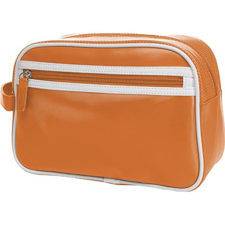 Trousse de toilette ou maquillage rétro - simili cuir - 1809791 - orange