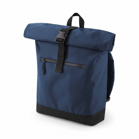 Sac à dos roll-top 12L - compartiment ordinateur - BG855 - bleu marine