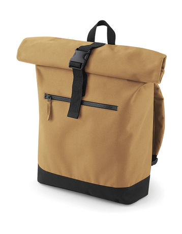 Sac à dos roll-top 12L - compartiment ordinateur - BG855 - beige caramel