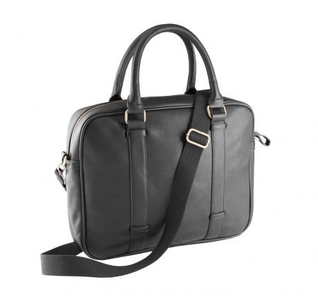 Sac porte documents imitation cuir - KI0918 noir - sacoche ordinateur portable