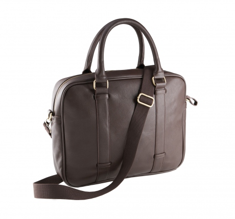 Sac porte documents imitation cuir - KI0918 marron - sacoche ordinateur portable