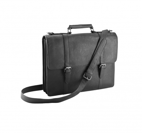 Cartable porte documents imitation cuir - KI0920 noir - sacoche ordinateur portable