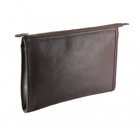 Pochette porte documents - imitation cuir - KI0915 - marron - housse tablette ordinateur