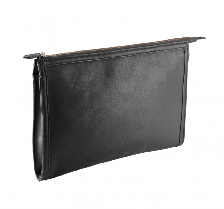 Pochette porte documents - imitation cuir - KI0915 - noir - housse tablette ordinateur