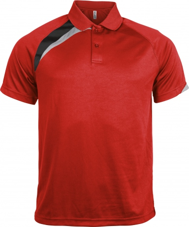 Polo unisexe - PA457 - rouge - manches courtes