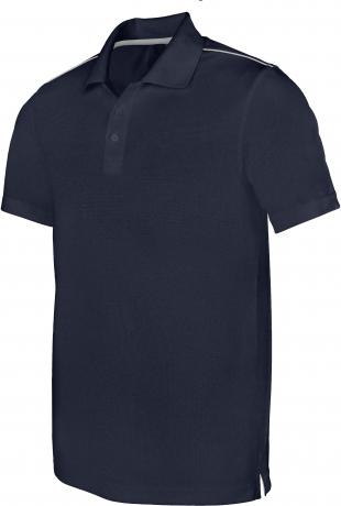 Polo homme sport - PA480 - bleu marine - manches courtes