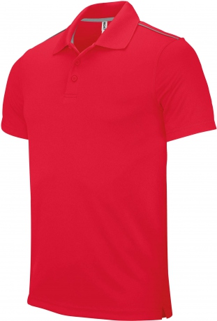 Polo homme sport - PA480 - rouge - manches courtes