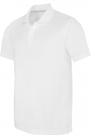 Polo homme sport - PA480 - blanc - manches courtes