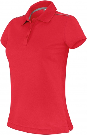 Polo femme sport - PA481 - rouge - manches courtes