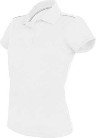 Polo femme sport - PA481 - blanc - manches courtes