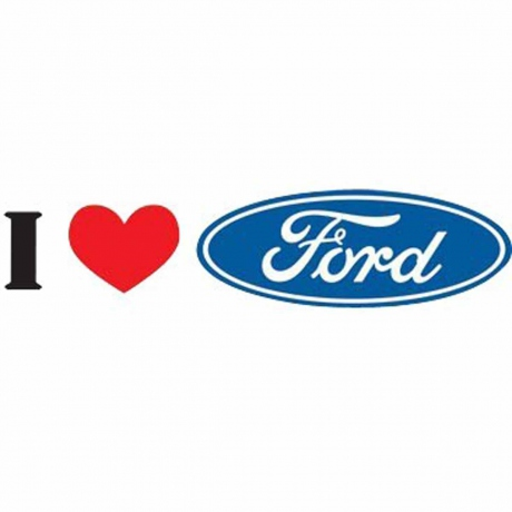 T-shirt HOMME manches courtes - I love FORD - voiture - 12525