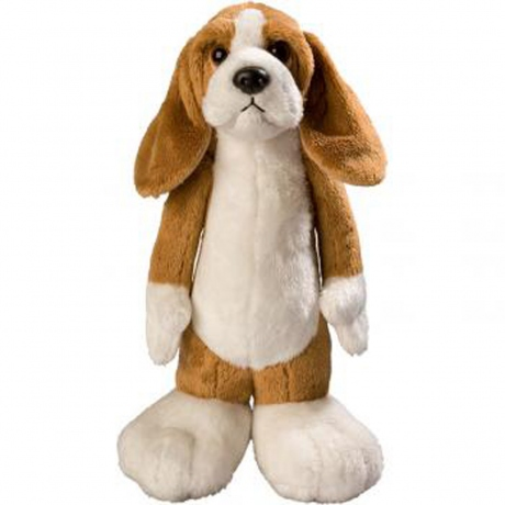 Peluche chien James - 60024 - marron clair