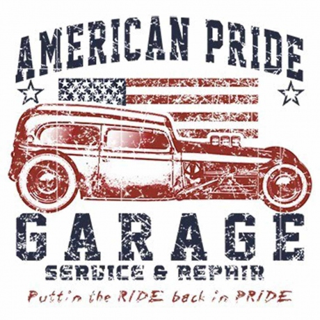 T-shirt homme manches courtes - 5279 - American Pride Garage - voiture ancienne USA