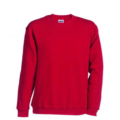 Sweat-shirt col rond - JN040 - rouge - mixte homme femme